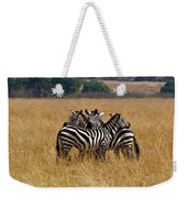Zebra Protect Each Other Weekender Tote Bag