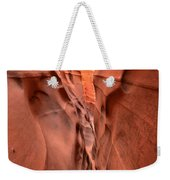 Zebra Slot Canyon Glow Weekender Tote Bag