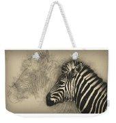 Zebra Study Weekender Tote Bag