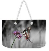 Zebra Swallowtail Butterfly And Stripes Weekender Tote Bag