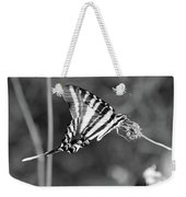 Zebra Swallowtail Butterfly Black And White Weekender Tote Bag