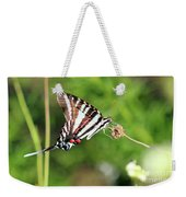 Zebra Swallowtail Butterfly In Garden 2016 Weekender Tote Bag