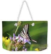 Zebra Swallowtail Butterfly On Phlox Weekender Tote Bag
