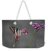 Zebra Swallowtail Butterfly With Verbena Weekender Tote Bag