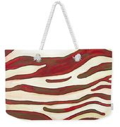 Zebra Zone - Color On White Weekender Tote Bag