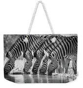 Zebras Drinking Weekender Tote Bag