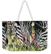 Zebras In The Grass Weekender Tote Bag