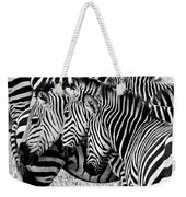 Zebras Triplets Weekender Tote Bag
