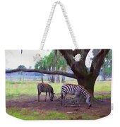 Zebras Under Oaks Weekender Tote Bag
