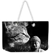 Zen Cat Black And White- Photography By Linda Woods Weekender Tote Bag