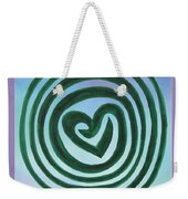 Zen Heart Labyrinth Sky Weekender Tote Bag