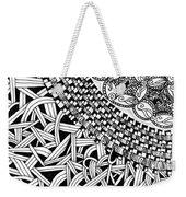 Zentangle Inspired Design Weekender Tote Bag