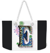 Zentangle Inspired E #3 Weekender Tote Bag