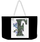 Zentangle Inspired F #3 Weekender Tote Bag
