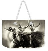 Ziegfeld Model  Dancers By Alfred Cheney Johnston Black And White Ballet Weekender Tote Bag