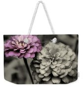 Zinnia Flower Pair Weekender Tote Bag