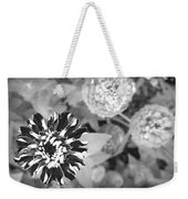 Zinnia In Black And White  Weekender Tote Bag