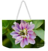 Zinnia In Pink Weekender Tote Bag