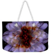 Zinnia On Black Weekender Tote Bag