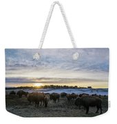 Zion Mountain Ranch Buffalo Herd Weekender Tote Bag