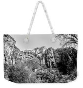 Zion National Park Utah Black White  Weekender Tote Bag