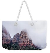 Zion Red Rock And Clouds Weekender Tote Bag