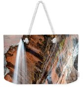 Zion Waterfall At Emerald Pools Weekender Tote Bag