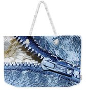 Zipper In Blue Weekender Tote Bag