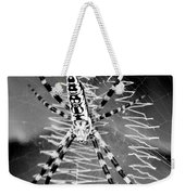 Zipper Spider - Black And White Weekender Tote Bag