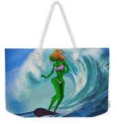 Zombie Surf Goddess Weekender Tote Bag