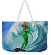 Zombie Surf Goddess Weekender Tote Bag