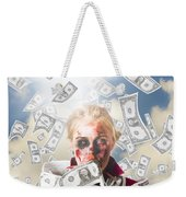 Zombie With Crazy Money. Filthy Rich Millionaire Weekender Tote Bag