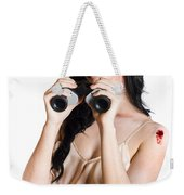 Zombie Woman With Binoculars Weekender Tote Bag