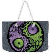 Zombie Yin-yang Weekender Tote Bag by John Schwegel