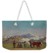 Zommer, Richard 1866-1939 In The Mountains Of Alatau Weekender Tote Bag
