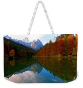 Zugspitz And Riessersee Garmish Germany Weekender Tote Bag