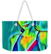 03_young Girl Portrait Weekender Tote Bag
