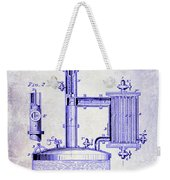 1878 Beer Boiler Patent Blueprint Weekender Tote Bag