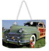 1947 Chrysler Town And Country Woody Weekender Tote Bag