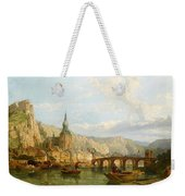 A View Of Dinant Weekender Tote Bag