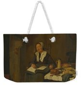 A Woman Asleep By A Fire  Weekender Tote Bag
