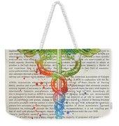 Advanced Practice Registered Nurse Gift Idea With Caduceus Illus Weekender Tote Bag