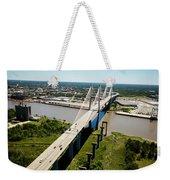 Aerial View Of Talmadge Bridge Weekender Tote Bag