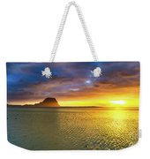 Amazing View Of Le Morne Brabant At Sunset.mauritius. Panorama Weekender Tote Bag