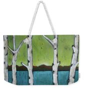 Aspen Trees On The Lake Weekender Tote Bag