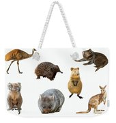 Australian Animals Isolated Weekender Tote Bag by Benny Marty