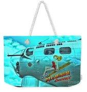 B-17 Aluminum Overcast Pin-up Weekender Tote Bag