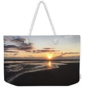 Beach Sunset, Blackpool, Uk 09/2017 Weekender Tote Bag
