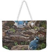 Blue Jay Stand Off Weekender Tote Bag