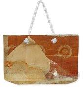 Burnt Orange Collage Weekender Tote Bag